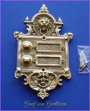 Messing Klingel 2 Klingelschild Klingelplatte Brass Door Bell Türklingel K30P