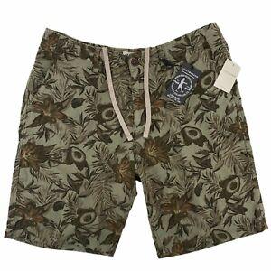 Lucky Brand Tropical Avocado Print Green Linen Shorts Mens Size 34 10″
