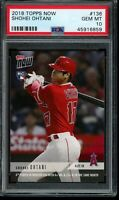 2018 Topps Now #136 Shohei Ohtani RC PSA 10 Gem Mint Rookie Card