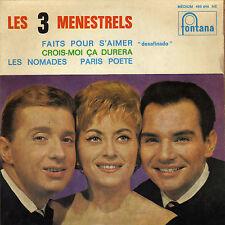 LES 3 MENESTRELS DESAFINDO / LES NOMADES (FERRAT) FRENCH ORIG EP ALAIN GORAGUER
