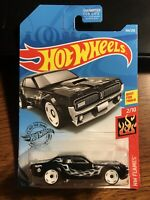 Hot Wheels '68 Mercury Cougar HW Flames Black/White