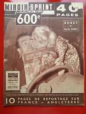 02/12/1957 miroir sprint n°600 BOBET ANNIE CORDY FOOT FRANCE ANGLETERRE