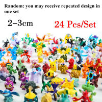NEW 24pcs Pokemon Toy Set Mini Action Figures Pokemon Go Monster Gift 2-3cm