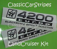 LandCruiser 4200 turbo 100 Series Black Decal sticker