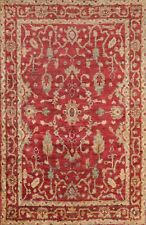 Geometric RED Moroccan Hand-knotted Oriental Area Rug Indoor/ Outdoor Carpet 6x8