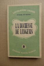 Honoré de Balzac - La duchesse de Langeais  /  éd. Gasnier