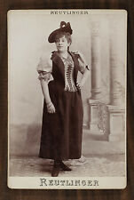 Anna Judic, Actrice Théâtre Opéra, Photo Cabinet card, Reutlinger Paris
