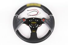 "Black 320mm /13""Racing Steering Wheel with Horn Button PVC Leather Universal"