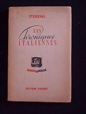 Les chroniques italiennes
