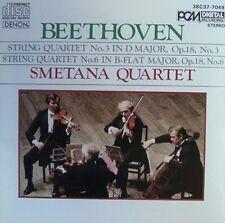 Beethoven String Quartet No. 3 & 6 Smetana Quartet RAR!