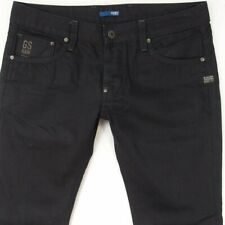 Mens G-Star ATTACC LOW STRAIGHT Straight Blue Jeans W34 L32