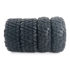 "Front Rear 25"" ATV / UTV TIRES FULL COMPLETE SET 4 - 25X8-12 25X10-12"