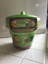 Green Lid Biodegradable Kitchen Compost Bins Starter Pack