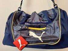 NWT Puma 3.0 Contender Duffel Bag Brand Bright Navy Blue With Yellow Trim