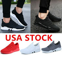 Womens Flyknit Running Shoes Breathable Mesh Athletic Sneakers Walking Gym Sport