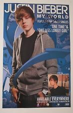 "Justin Bieber REAL hand SIGNED 11x17"" My World promo poster COA #3 Autographed"