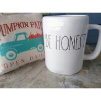 Rae Dunn BE HONEST Mug Artisan Collection by Magenta Large Coffee Tea Mug New