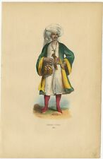 Antique Print of a Man from Bukhara by Wahlen (1843)