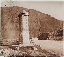 Col du Somport France Espagne Photo H10 Plaque de verre Stereo Vintage