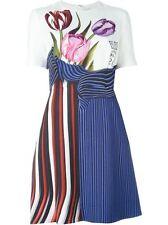 MARY KATRANTZOU  'Alli' botanical flared dress UK 10