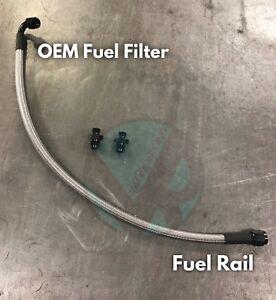 Stainless Steel Fuel Line Kit For Honda / Acura B/D Series  OEM Filter EG EK DC2
