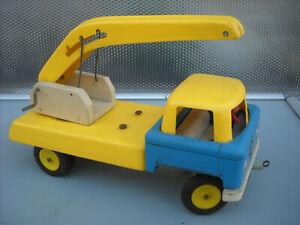 Kran Auto IFA, Holz-Kunststoff, DDR , ca. 60er Jahre