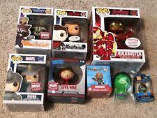 Marvel Collector Corps Funko POP Lot: Hulkbuster, Ant-Man, Rocket, Rhino, BONUS!