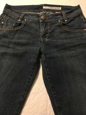 DKNY Women's Jeans Distressed Straight Leg Stretch Size 6 X 32