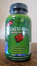 !!! nuevo!!! Irwin Naturals CoQ10-Plus óptima la salud del corazón 60 geles de suave (5785)