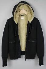 DIESEL Women's SMALL Faux Fur Lined Hooded Jumper / Hoodie 18781-JS