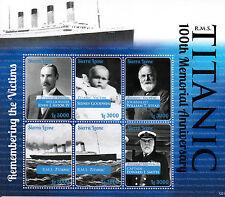 Sierra Leone 2012 MNH RMS Titanic 100th Memorial Anniv 6v M/S Sinking Ships Boat