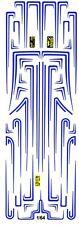 Hot Rod Custom Car Scallops Blue  1/64th HO Scale Slot Car Waterslide Decals