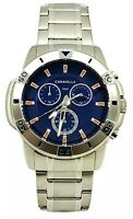 Caravelle Mens by Bulova 43B171 Blue Dial Stainless Steel Chronograph Watch