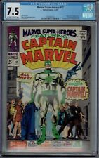 CGC 7.5 MARVEL SUPER-HEROES #12 CAPTAIN MARVEL 1ST APPEARANCE OW/W PAGES