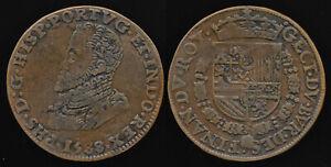 1588 KING PHILIP II of PORTUGAL JETON > ex FAMED H.D. GIBBS COLLECTION > NO RSRV