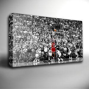Michael Jordan BASKETBALL - Giclee CANVAS Wall Art Print *Choose your size