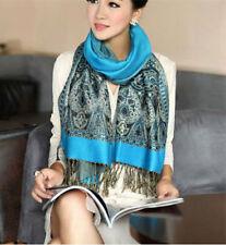 New Fashion Pashmina Cashmere Womens Scarves Paisley Stole Shawl Wrap+Scarf