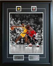 Michael Jordan Kobe Bryant Bulls Lakers 25x31 Framed Picture NBA Spotlight Pins