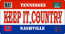 """11"""" X 5""""  KEEP IT COUNTRY - METAL SIGN - TRUCKER MUSIC OPRY NASHVILLE  247"""