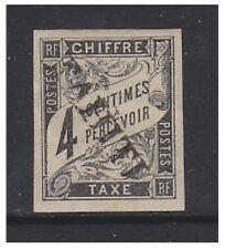 Tahiti - 1893, 4c Black Postage Due stamp - Mint No Gum - SG D22