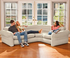 New INTEX Corner Sofa Couch Adult Size Inflatable Lounge Camping Indoor Outdoor
