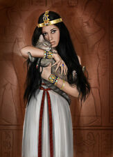 Egyptian Queen With Her Cat - Ancient Egypt - Handmade Oil Painting On Canvas