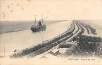 BR46817 Port Said view of the canal ship bateaux   Egypt