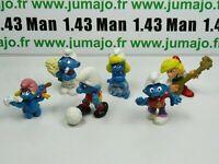 LOT8 Figurine PVC schleich : 6 SCHTROUMPF smurf puffi pituffo