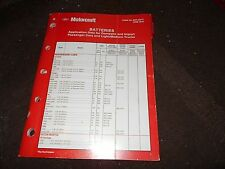 2010 MOTORCRAFT BATTERIES BATTERY MASTER PARTS CATALOG W PART NUMBERS TO IDENTIF