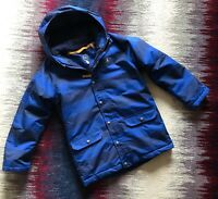 Joules Boys Age 11-12 Years Blue Stripe Winter Spring Jacket Hooded Excellent Co