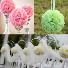 "Artificial Silk Rose Kissing Flower Ball Pomander Bouquet Wedding Decor 6""x8"""