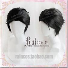 YURI!!! on ICE Katsuki Yuri Cosplay Wig Short Black Slicked-back wig