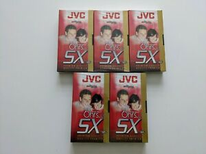 JVC SX PREMIUM blank video cassette tapes VHS (LOT OF 5) ** brand new SEALED W@W