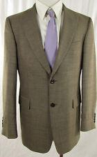 STRELLSON Sakko Einreiher Gr. DE 48 braun Blazer Jacket Veston Schurwolle+Leinen